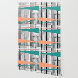 Colored arrows on wood Wallpaper