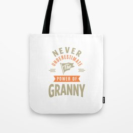 Power Of Granny Tote Bag
