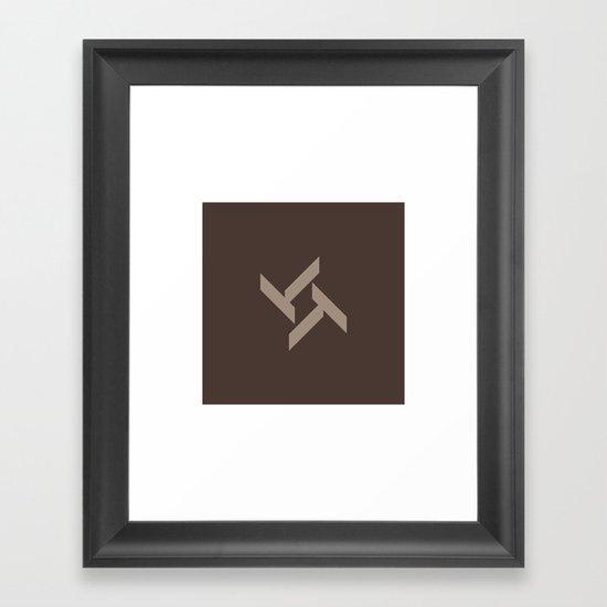 #21 A lozenge fan Framed Art Print
