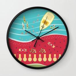 Summer Fun at the Watermelon Beach Wall Clock