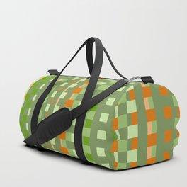 orange green checkered pattern Duffle Bag