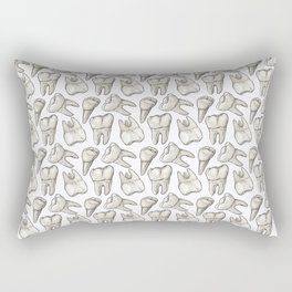 Teeth - White Rectangular Pillow