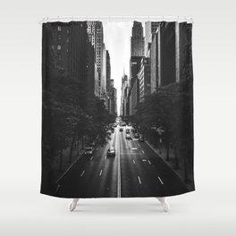 New York City (Black and White) Shower Curtain