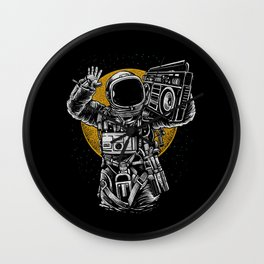 Astronaut Boombox Wall Clock