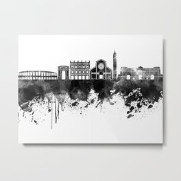 Verona skyline in black watercolor Metal Print