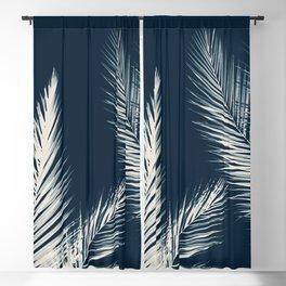 Palm Cyanotype #2 Blackout Curtain