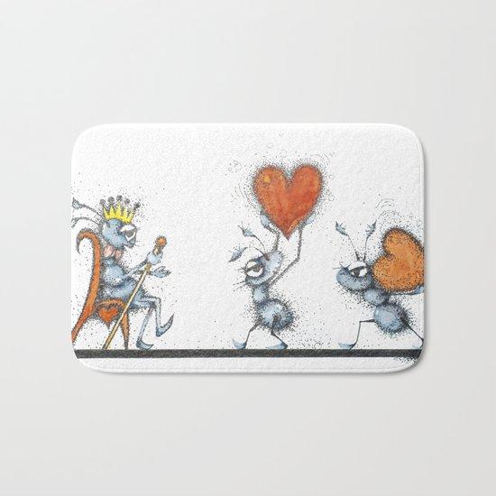 King of hearts Bath Mat