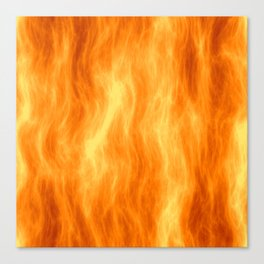 Red flame burning Canvas Print