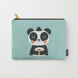 Panda Loves Coffee Carry-All Pouch
