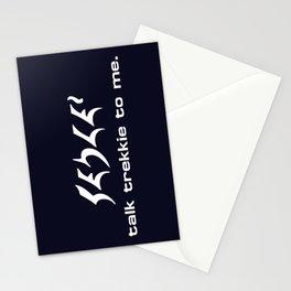 Talk Trekkie to Me Stationery Cards