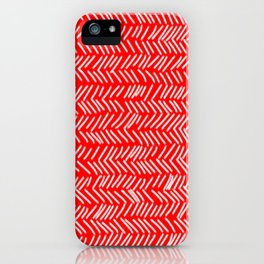 Scarlet Herringbone Lines iPhone Case