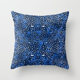 Whale Shark Skin (Blue and White Color) Throw Pillow