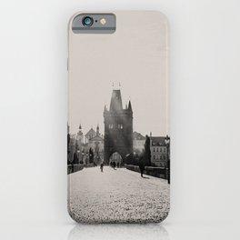 Charles bridge during sunrise in Prague, Czech Republic iPhone Case