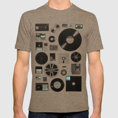 Data MEDIUM Tri-Coffee Mens Fitted Tee