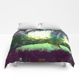 Tropical Oasis Prism Comforters