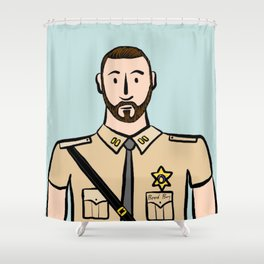 Beard Boy: Stephan Shower Curtain