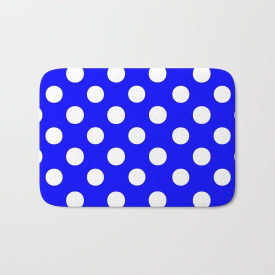 Polka Dots (White/Blue) Bath Mat