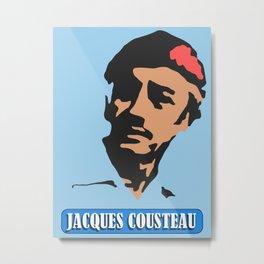 Jacques Cousteau Metal Print