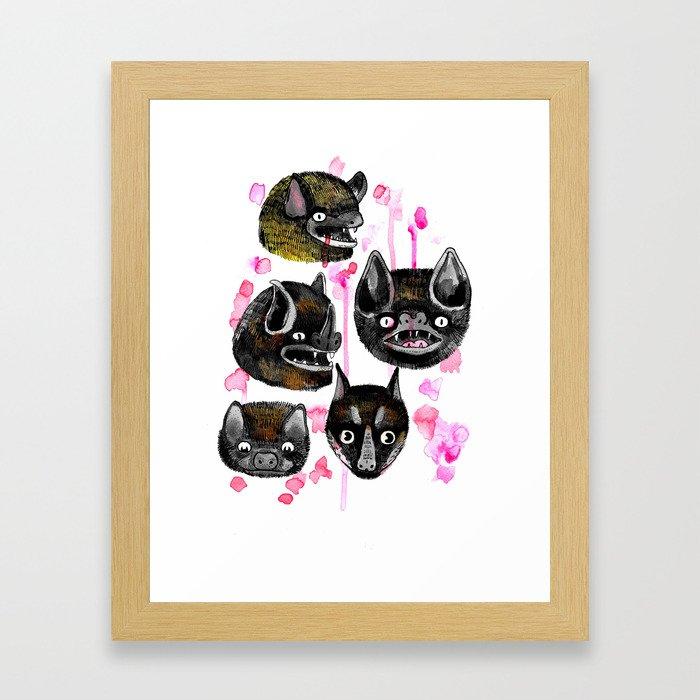bats Framed Art Print