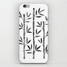 Black Bamboo iPhone Skin