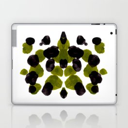 Olive Green And Black Ink Blot Pattern Laptop & iPad Skin