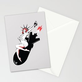Bombshell - Statue of Liberty Political Art Print Stationery Cards