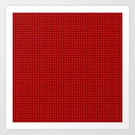 Holiday Red Poka Dot pattern Art Print