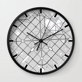 La Plata City Map of Argentina - Circle Wall Clock