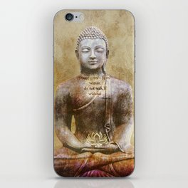 Buddha - Peace Comes From Within iPhone Skin