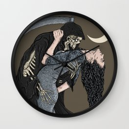 A Dance with Death Wall Clock