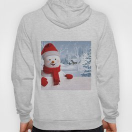 3d snowman New Year Christmas New Year 2017 snowman Hoody