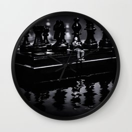 Contemplating Your Next Move when reflecting make sure your memories are clear Wall Clock