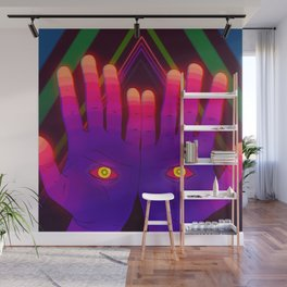 Psychedelic Energy Hands 2 (GIF Single Frame) Wall Mural