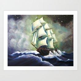 Oh Ship! Art Print