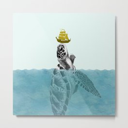 The Giant Sea Turtle Metal Print