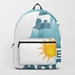 save arctic save arctic climate change climate earth Backpack