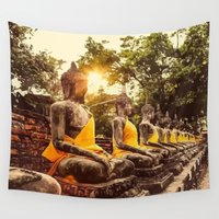 nirvana Wall Tapestries featuring Buddhist Nirvana by Maioriz Home