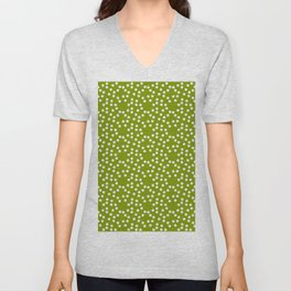 new polka dot 103 green Unisex V-Neck