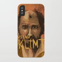 gustav klimt iPhone & iPod Cases featuring 50 Artists: Gustav Klimt by Chad Beroth