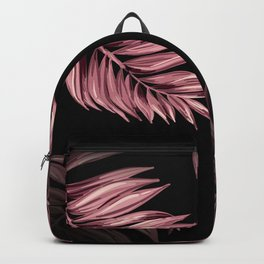 Rose Pink Palm Leaves Backpack