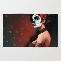 dia de los muertos Area & Throw Rugs featuring Dia de los Muertos by Giorgio Baroni