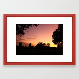 back roads Framed Art Print