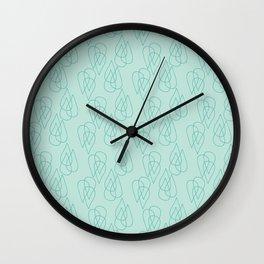 Rain Drops in Green Wall Clock