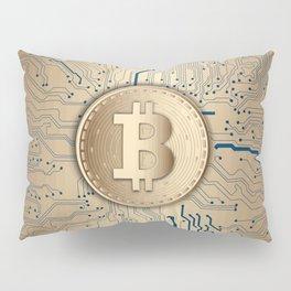 Bitcoin money gold Pillow Sham