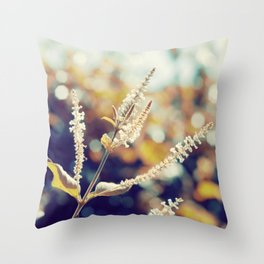 I sit in my garden, gazing upon a beauty that cannot gaze upon itself.   Throw Pillow