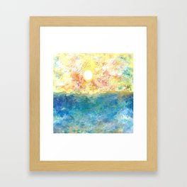 Water and Sun Framed Art Print