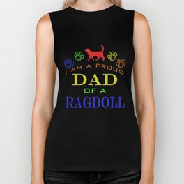 Proud Dad of a Ragdoll Biker Tank