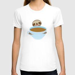 sloth & coffee T-shirt