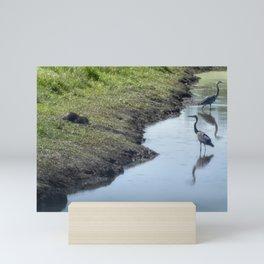 Sharing the River Mini Art Print