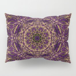 Purple Mandala Hippie Pattern Pillow Sham